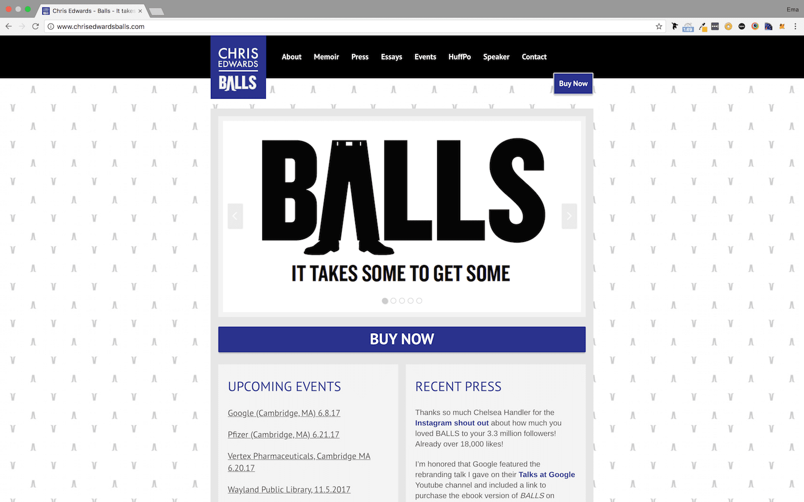 Chris Edwards Balls Homepage