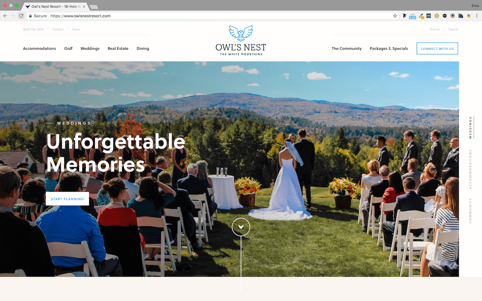 Owl's Nest Resort Homepage
