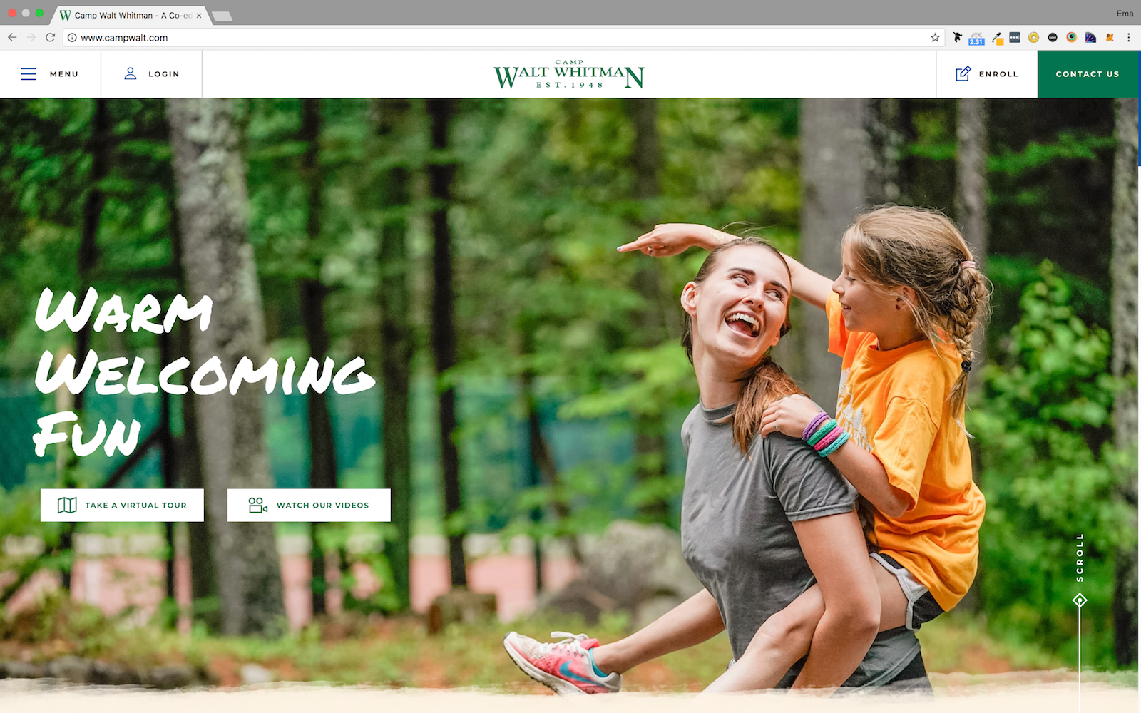 Camp Walt Whitman Homepage